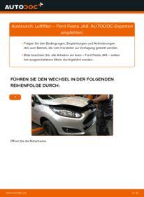 Wie der Wechsel durchführt wird: Luftfilter 1.25 Ford Fiesta Mk6 tauschen