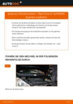 Bremsscheiben wechseln OPEL CORSA: Werkstatthandbuch
