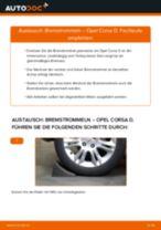 Ratschläge des Automechanikers zum Austausch von OPEL Opel Corsa C 1.0 (F08, F68) Bremsbeläge