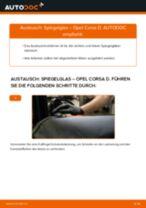 Wie Opel Corsa D Spiegelglas wechseln - Anleitung