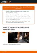 Wie Opel Corsa D Innenraumfilter wechseln - Anleitung