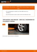 Wanneer ABS Sensor BMW 1 Coupe (E82) veranderen: pdf tutorial