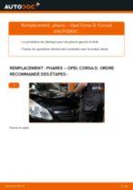 Comment changer : phares sur Opel Corsa D - Guide de remplacement