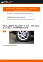 Comment changer : roulement de roue arrière sur Opel Corsa D - Guide de remplacement