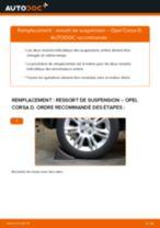 Comment changer : ressort de suspension arrière sur Opel Corsa D - Guide de remplacement