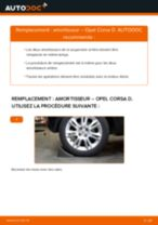 Comment changer : amortisseur arrière sur Opel Corsa D - Guide de remplacement
