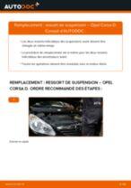 Comment changer : ressort de suspension avant sur Opel Corsa D - Guide de remplacement