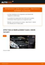 Comment changer : jambe de suspension avant sur Opel Corsa D - Guide de remplacement