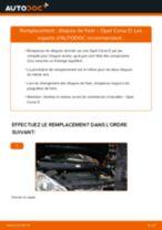 Comment changer Disque de frein arrière et avant OPEL CORSA D - manuel en ligne