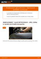 Comment changer : glace rétroviseur sur Opel Corsa D - Guide de remplacement