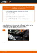 Comment changer : bougie de préchauffage sur Opel Corsa D - Guide de remplacement