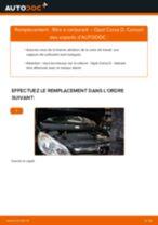 Comment changer : filtre à carburant sur Opel Corsa D - Guide de remplacement