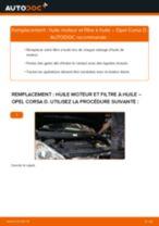Comment changer : huile moteur et filtre huile sur Opel Corsa D - Guide de remplacement