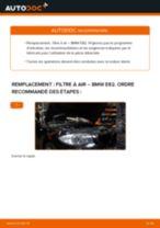 Montage Filtre à Air BMW 1 Coupe (E82) - tutoriel pas à pas