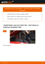 Automekaniker anbefalinger for udskiftning af SEAT Seat Ibiza 6l1 1.4 16V Brændstoffilter