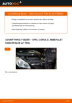 Udskift fjeder for - Opel Corsa D | Brugeranvisning