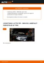 Udskift luftfilter - BMW E82   Brugeranvisning