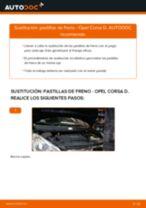 Cómo cambiar Pastilla de freno delanteras y traseras OPEL CORSA D - manual en línea