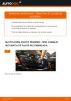 Cómo cambiar: piloto trasero - Opel Corsa D   Guía de sustitución