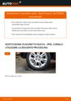 Come cambiare cuscinetto ruota della parte posteriore su Opel Corsa D - Guida alla sostituzione