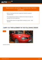 FIAT BRAVO change Anti Roll Bar Links rear and front: guide pdf