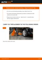 Auto mechanic's recommendations on replacing OPEL Opel Corsa S93 1.2 i 16V (F08, F68, M68) Anti Roll Bar Bushes