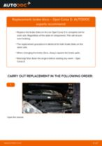 How to replace and adjust Stabilizer bushes OPEL CORSA: pdf tutorial
