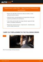 PDF replacement tutorial: Cabin filter OPEL Corsa D Hatchback (S07)