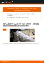 How to change glass for wing mirror on BMW E82 – replacement guide