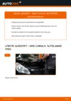 Byta glödstift på Opel Corsa D – utbytesguide