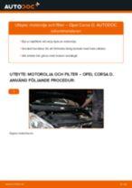 Byta motorolja och filter på Opel Corsa D – utbytesguide