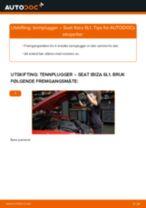 Mekanikerens anbefalinger om bytte av SEAT Seat Ibiza 6l1 1.4 16V Bremseklosser
