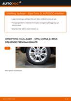 Hvordan bytte og justere Hjullagersett OPEL CORSA: pdf håndbøker