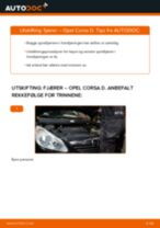 Skifte Hjulnav OPEL CORSA: gratis pdf