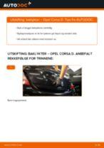 Gratis instruksjoner på nett for bytte Baklykt OPEL CORSA D