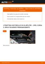 Slik bytter du motorolje og oljefilter på en Opel Corsa D – veiledning