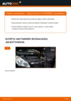 Kuinka vaihtaa joustintuki eteen Opel Corsa D-autoon – vaihto-ohje