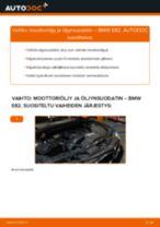 Kuinka vaihtaa moottoriöljy ja öljynsuodatin BMW E82-autoon – vaihto-ohje