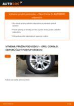 Ako vymeniť zadné pružina podvozku na Opel Corsa D – návod na výmenu