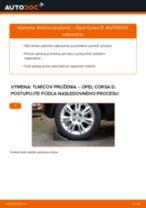 Ako vymeniť zadné tlmiče pruženia na Opel Corsa D – návod na výmenu