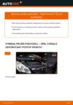 Ako vymeniť predné pružina podvozku na Opel Corsa D – návod na výmenu