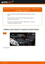Ako vymeniť predné jednotka prużenia, tlmič prużenia na Opel Corsa D – návod na výmenu