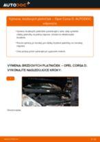 Ako vymeniť predné brzdové platničky na Opel Corsa D – návod na výmenu