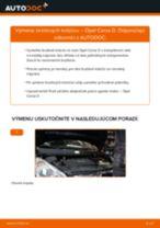 Podrobný PDF tutorial k výmene OPEL CORSA D Brzdový kotouč