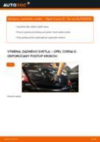 Ako vymeniť zadné svetlá na Opel Corsa D – návod na výmenu