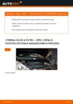 Ako vymeniť Olejový filter na OPEL CORSA D - manuály online