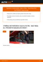 Jak vyměnit a regulovat Brzdove hadicky SEAT IBIZA: průvodce pdf