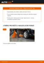 Podrobné PDF tutoriály, jak vyměnit Lozisko kola na autě OPEL CORSA D