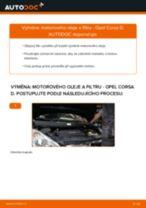 Jak vyměnit motorový olej a olejový filtr na Opel Corsa D – návod k výměně