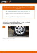 Kako zamenjati avtodel kolesni ležaji zadaj na avtu Opel Corsa D – vodnik menjave